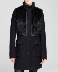 Andrew Marc Coat  Larissa Modern Convertible with Rabbit Vest - Lyst