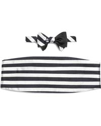 Brooks Brothers The Social Primer Reversible Bow Tie With Cummerbund - Lyst