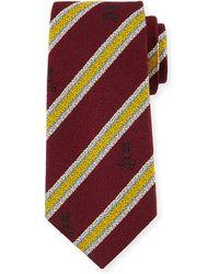 Psycho Bunny - Stripe Silk & Wool Tie - Lyst