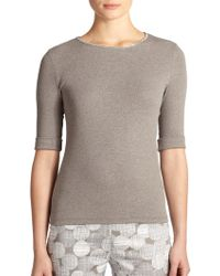 Peserico Stretch Cotton Chain-Trim Top - Lyst