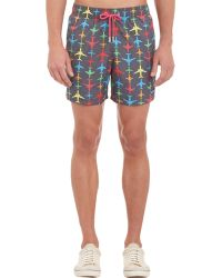 Limoland - Airplane-Pattern Swim Trunks - Lyst
