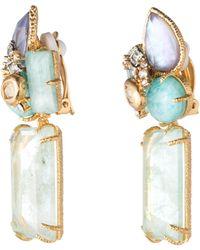 Alexis Bittar Crystal Cluster Clip Earrings - Lyst