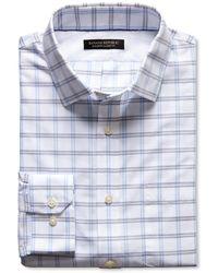 Banana Republic Classic Fit Non Iron Blue Open Plaid Shirt Light Blue - Lyst