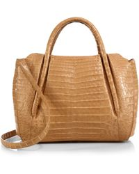 Nancy Gonzalez Medium Crocodile Satchel - Lyst