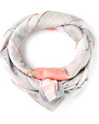 Nina Ricci Multicolor Patterned Scarf - Lyst