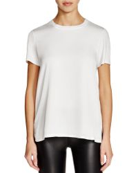 Theory | Apdime Mixed Media Top | Lyst