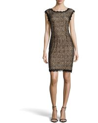 Halston Heritage Sequin Lace Sheath Dress - Lyst