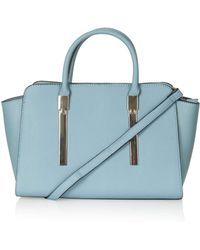 Topshop Womens Hinge Plate Holdall Blue - Lyst