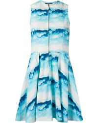 Skinbiquini - 'céu' Print Sleeveless Skater Dress - Lyst