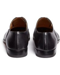 Saks Fifth Avenue - Toe Cap Six Eyelet Leather Oxfords - Lyst