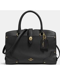 COACH | Mercer Satchel 30 In Grain Leather | Lyst