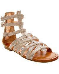 Steve Madden Plato Metallic Speckled Gladiator Sandals - Lyst