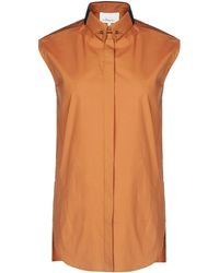 3.1 Phillip Lim Brown Sleeveless Shirt - Lyst