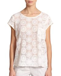 Joie Dalliance Geo-Embroidered Blouse - Lyst