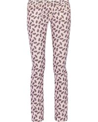 Etoile Isabel Marant Iti Midrise Printed Corduroy Skinny Jeans - Lyst