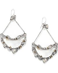 Alexis Bittar Lucite Crystal Suspended Crescent Drop Earrings - Lyst