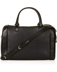 TOPSHOP - Double Zip Luggage Bag - Lyst