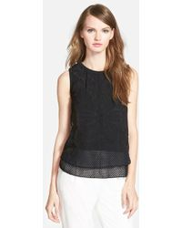 Trouvé Embroidered Overlay Tank - Lyst