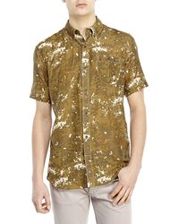 French Connection Summer Rain Woven Shirt - Lyst