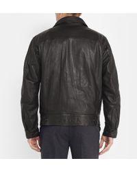 Christophe Lemaire | Leather Bomber Jacket | Lyst
