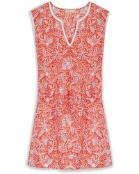 Tory Burch Pink Emmarentia Dress - Lyst