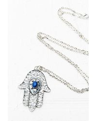 Urban Outfitters - Hamsa Hand Pendant Necklace in Silver - Lyst