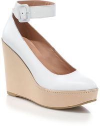 Robert Clergerie Ankle-Strap Platform Wedge Pumps - Lyst