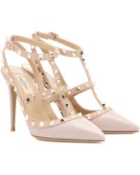 Valentino Rockstud Leather Pumps - Lyst