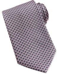 Ferragamo Butterfly-pattern Woven Tie - Lyst