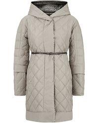 Max Mara Quilt And Tweed Print Reversible Coat - Lyst