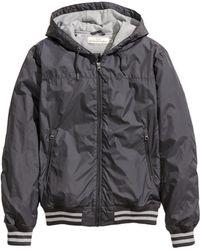 H&M Gray Nylon Jacket - Lyst