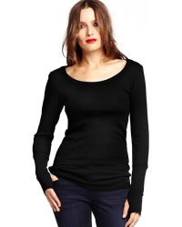 Michael Stars Long Sleeve Thermal Scoop Neck with Thumb Holes - Lyst