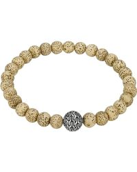 John Hardy Lotus Seed Beaded Bracelet With Magnetic Clasp - Lyst