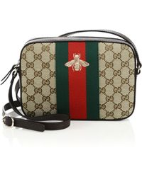 Gucci | Original Gg Canvas Shoulder Bag With Bee | Lyst