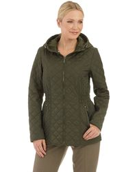 Laundry By Shelli Segal Hooded Quilt Jacket - Lyst