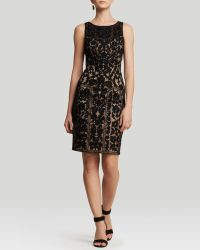 Sue Wong Dress  Sleeveless High Neck Soutache Illusion Neckline - Lyst