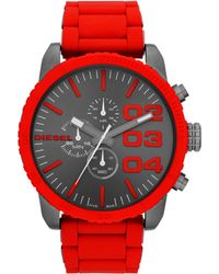 Diesel Double Down Mens Red Bracelet Watch - Lyst