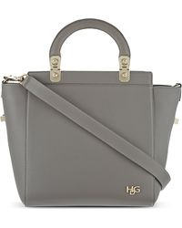 Givenchy Small Leather Tote Pearl Grey - Lyst