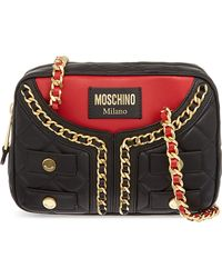 Moschino Quilted Jacket Shoulder Bag Blkred - Lyst