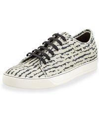 Lanvin Zebrapattern Leather Sneaker - Lyst