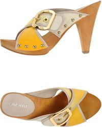 Nine West Mules yellow - Lyst