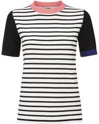 Sonia By Sonia Rykiel Colour Block Striped Sweater - Lyst