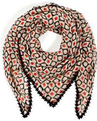 Anna Sui - Silk Star Print Scarf - Lyst