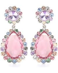 Miu Miu Crystal Clip-On Earrings - Lyst