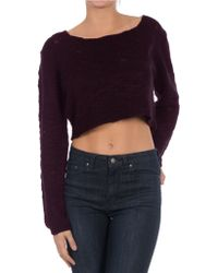 William Rast - Cropped Sweater - Lyst