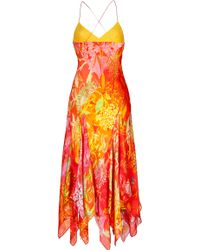Ralph Lauren Blue Label - Silk Printed Martina Dress - Lyst