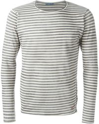 Jacob Cohen Gray Striped T-Shirt - Lyst