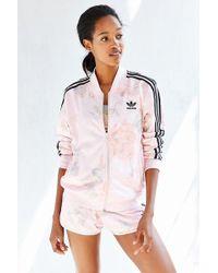 Lyst Adidas Originali Pastello Giacca Rosa Traccia Giacca Pastello Naturale 46f8d0