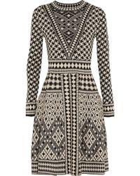 Temperley London Empire Jacquard-knit Merino Wool Dress - Lyst