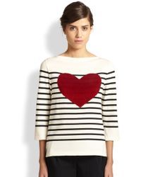Marc Jacobs Breton Stripe Heart Top - Lyst